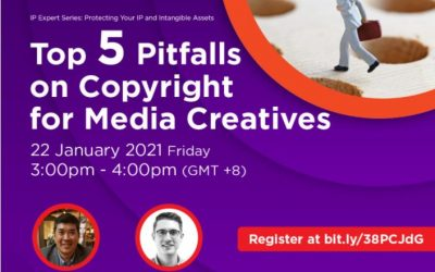 Top 5 Pitfalls On Copyright for Media Creatives – 22 Jan 2021